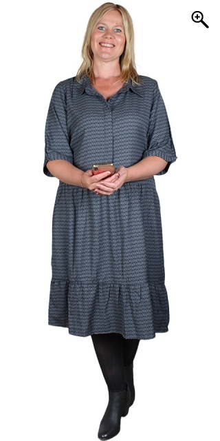 Cassiopeia - Kimmie dress - Grey/blue combi