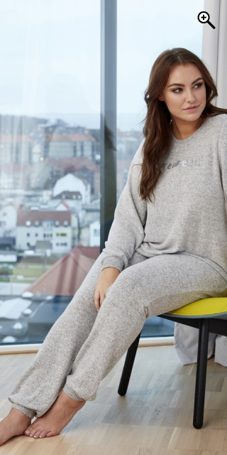 Zhenzi - Cate ultra soft night trousers - Light grey melange