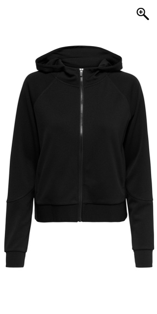 ONLY PLAY CURVY - Hoodie fitness jacket