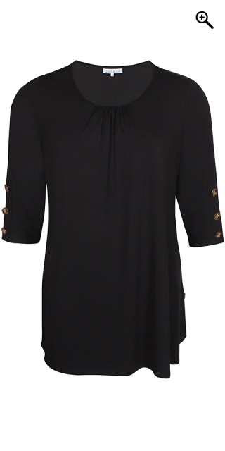 Zhenzi - Stylish viscose tunica - Black