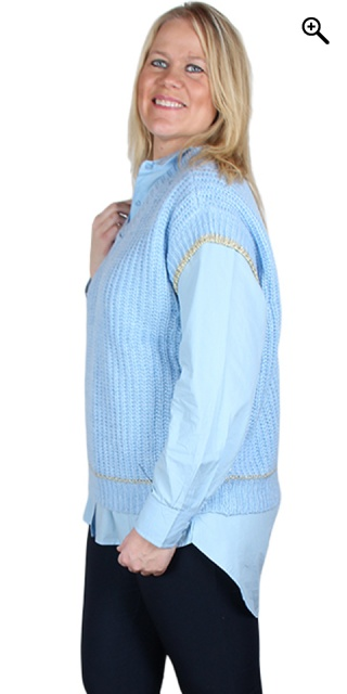 Zhenzi - Slipover knit/vest - Light blue