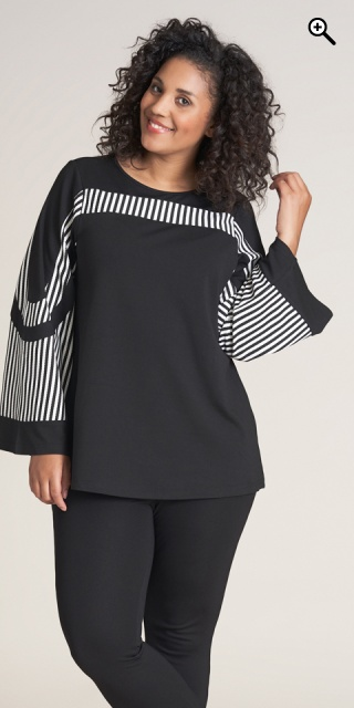 Studio Clothing - Tina blouse - Black/white stripe
