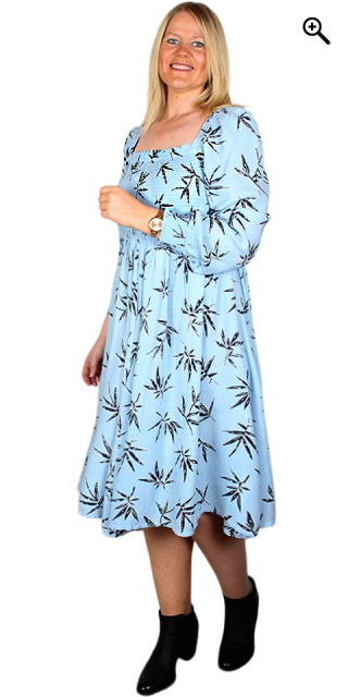 Zhenzi - Orel flowery dress - Light blue m/ sorte blade