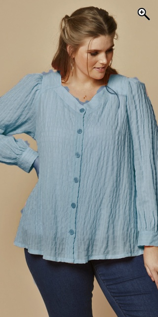 Zhenzi - Thea crepe shirt - Light blue