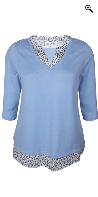 Zhenzi - Lyla 2 in 1 pullover - Light blau