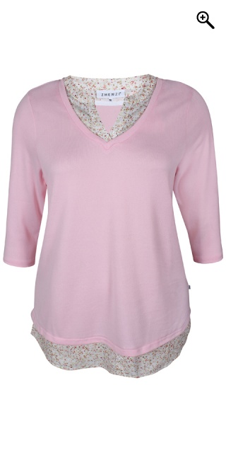 Zhenzi - Lyla 2 in 1 pullover - Crystal rose