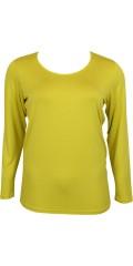 Zhenzi - T-shirt med rund hals og lange ærmer