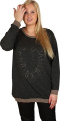 Cassiopeia - Tunica with rivet heart in knit with dehair angora