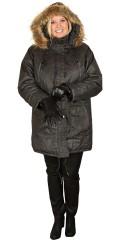 Cassiopeia - Coated vinter jakke med avtakbar hette som har avtakbar pelskant og stormklaff i ermene