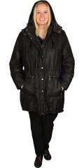 Zhenzi - Lekker halvlang vinter jakke med vattert for og avtakbar hette