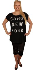 DNY (MARC LAUGE) - T-shirt top with smart print