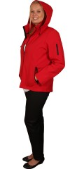 DNY (MARC LAUGE) - Short red soft shell jacket with red zipper, it well-known quality from dny