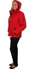 DNY (MARC LAUGE) - Kort rød bløt shell jakke med rød glidelås, den kjente kvalitet fra dny