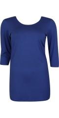 Handberg - Long basis blouse with 3/4 sleeves