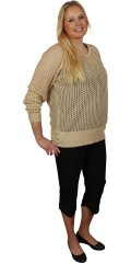 Cassiopeia - Angelika knit blouse-long-sleeve knit with nice buttons in the sides