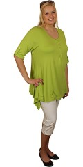 Handberg - T-shirt/tunica with 1/2-sleeves and. A-shaped