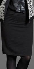 Zhenzi - Pencil skirt. flot tætsiddende nederdel i mønstret strik