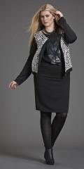 Zhenzi - Smart kort glidelås hele veien jakke med forstykke i vattert look