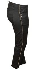 Zhenzi - Coatede twist legging fit bukser med strekk og delvis strikk i taljen samt beltestropper.