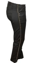 Zhenzi - Coatede twist legging fit bukser med strech og delvis elastik i taljen samt bæltestropper.