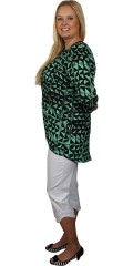 Cassiopeia - Light and stylish tunica with 3/4 sleeves and round neck in fashionable print