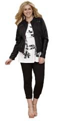 Zhenzi - Lækker jakke med ærmer i imiteret læder