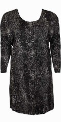 Zizzi - Dress with wing sleeves and round neck
