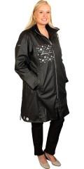 Handberg - Super flott glidelås hele veien regn jakke/kåpe