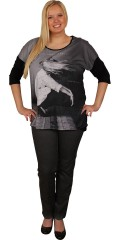 Cassiopeia - T-shirt with 3/4-sleeves, round neck and nice print