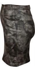 Cassiopeia - Nederdel i sejt slange print med lommer og lynlåse samt bæltestropper og masser af strech og regulerbar elastik i taljen