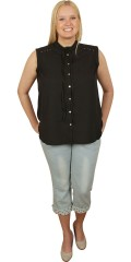 DNY (MARC LAUGE) - Abelone shirt blouse without sleeves
