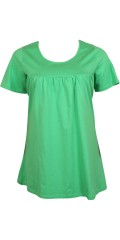 Handberg - Nice stretch cotton blouse/tunica with round neck