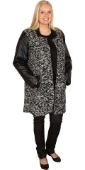DNY (Marc Lauge) - Impressive nice lined coat with press studs and 2 sloping pockets