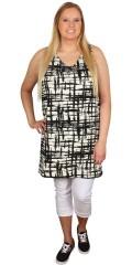 DNY (MARC LAUGE) - Smart tunika kjole med v-hals og uden ærmer