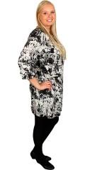 DNY (MARC LAUGE) - Flot tunica/kjole med 3/4 ærmer i flot grafisk print
