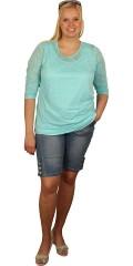 Zhenzi - T-shirt med 3/4-ærmer og dyrepræget tyk/tynd kvalitet