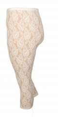 Festival - Capri lace leggings with wide rubber band in the waist