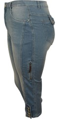 Cassiopeia - Denim pirate stumpebuks m/ 5 lommer med superstretch.