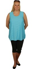 Handberg - Top with round neck and nice embossed pattern in the fabric