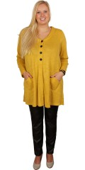 Gozzip - Long stylish knit cardigan with 2 pockets