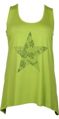 Handberg - Top with round neck and smart star of diamonds front
