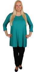 Q´neel - Blouse with round neck and long sleeves, a-haped