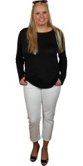 Studio - Basis t-shirt in stylish meryl with long sleeves and round neck