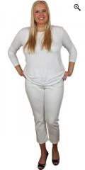 Studio - Basis t-shirt i lækker meryl med lange ærmer og rund hals