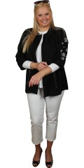 Zhenzi - Summer shirt/jacket with 3/4 sleeves and 2 pockets with zipper