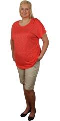 Zhenzi - Bermuda shorts, step pants med 4 lommer og opsmøg i ben og nitter ved lommer og opsmøg