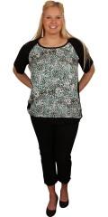 Cassiopeia - T-shirt / tunika med smart print i forstykket, med korte ærmer og rund hals