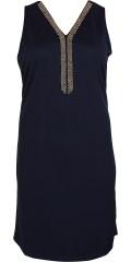 Zhenzi - Vacker klänning med v-hals och pärla band, utan ärmar