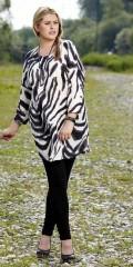 Zhenzi - Fashionable tunica with 1/2 sleeves and zebraprint
