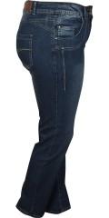 Zhenzi - Salsa denim pants narrow leg med strech og regulerbar elastik i taljen samt bæltestropper